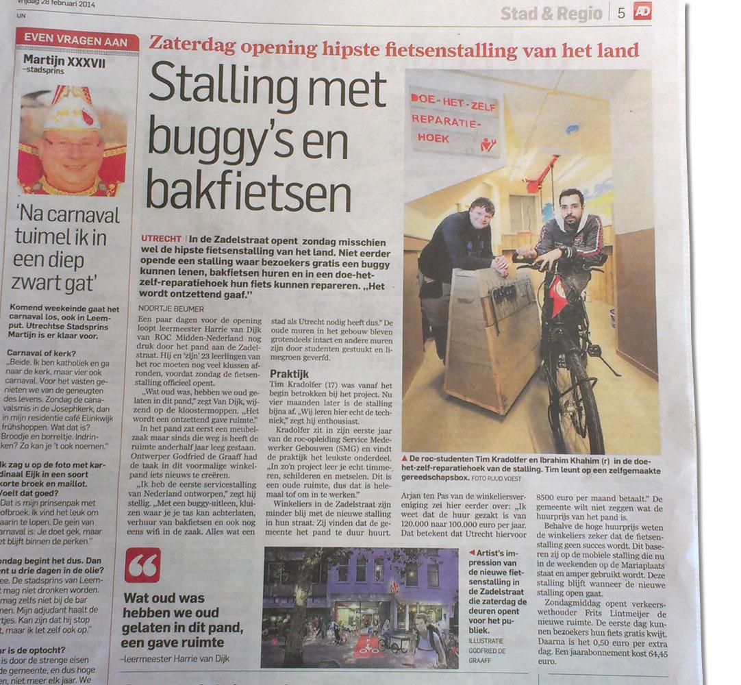 page Fietsenstalling Mariaplaats AD Godfried de Graaff